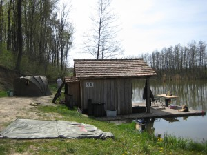 Hütte 15  am Ende des Sportfischteiches